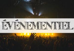 Illustration de la rubrique ÉVÉNEMENTIEL (image du public d'une salle de concert)
