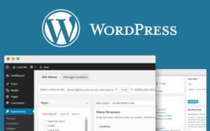 WordPress logo pour illustrer la création de sites WordPress