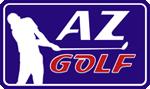 Logo AZ Golf, site www.az-golf.fr créé par Maud Ezavin